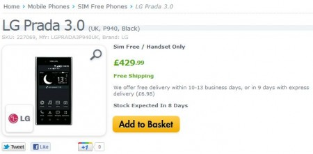 Prada Phone by LG 3.0 Available to buy now