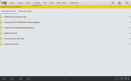 XDA Premium HD app released on the Android Market
