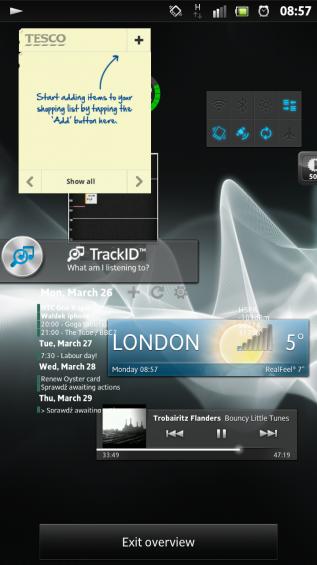 SXS screenshot homescreen overview