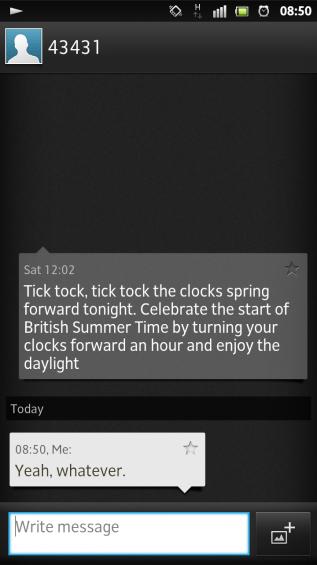 SXS screenshot messaging conversation
