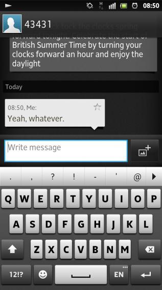 SXS screenshot messaging conversation typing