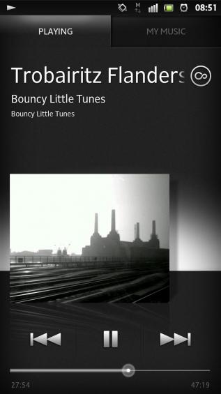 SXS screenshot music player