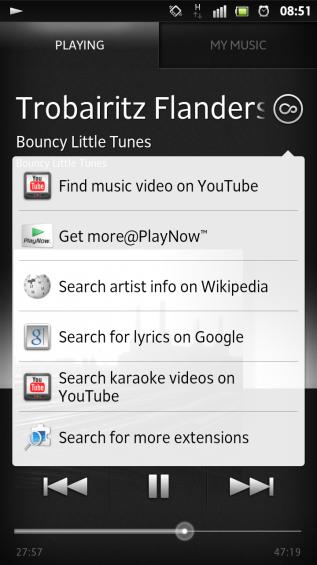 SXS screenshot music player2