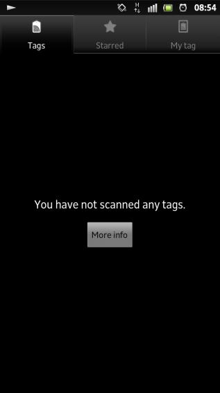 SXS screenshot nfc tags