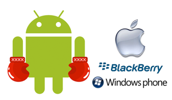 Android apple windows RIM