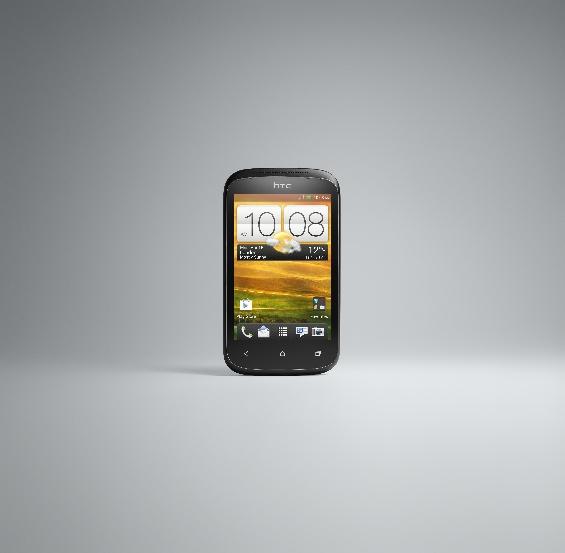 HTC Desire C FRONT BLACK RGB