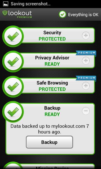 Backup Screenshot