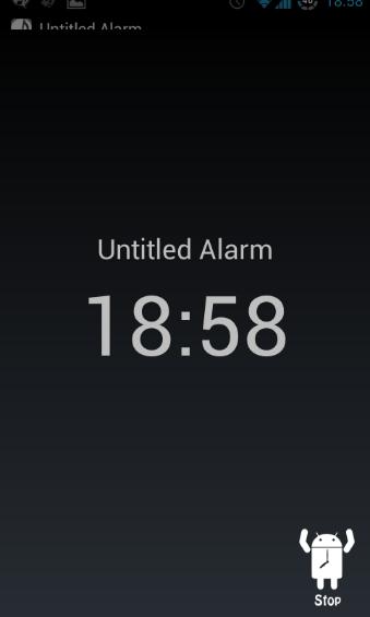 Alarm Stop Screen
