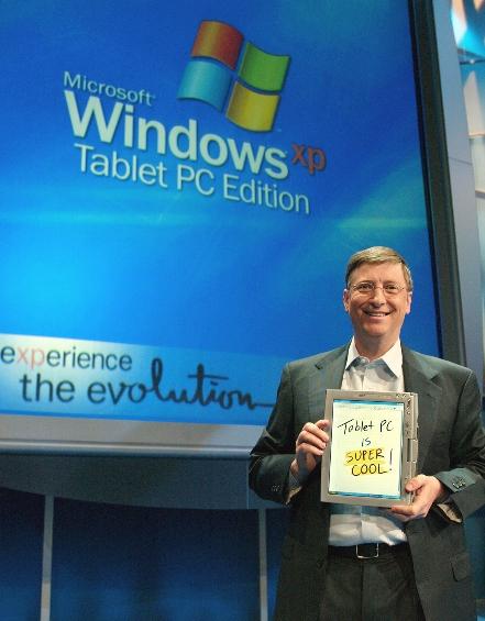 Bill Gates, Tablet PC