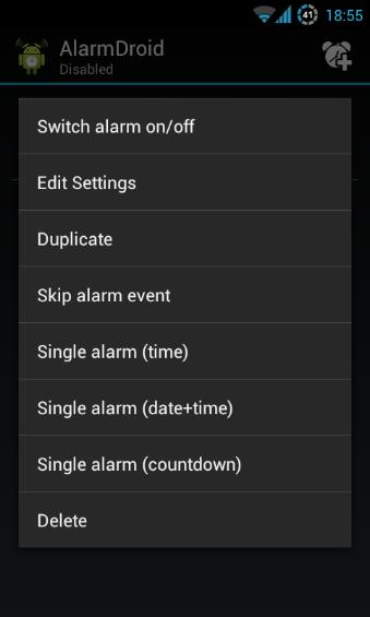 Single Alarm Setup