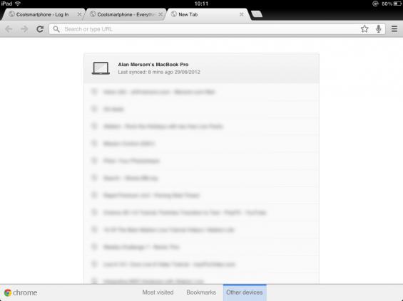 Chrome Screenshot iPad