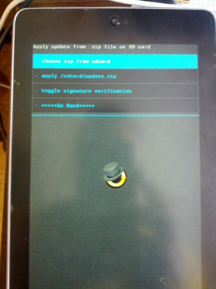 CWM choose zip screen