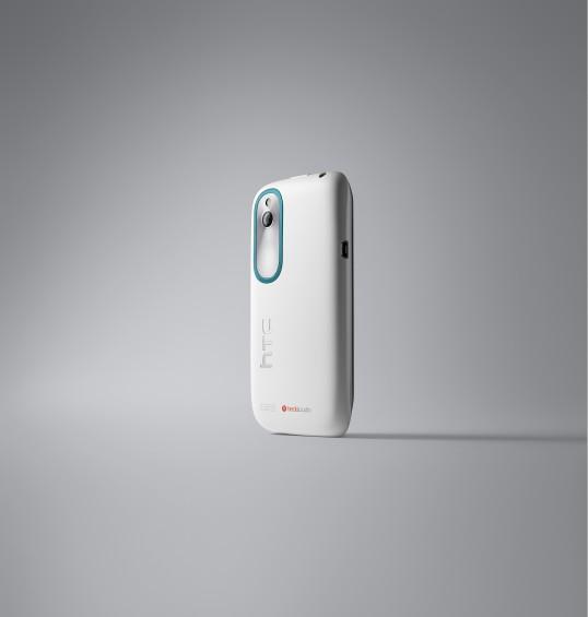 HTC Desire X White 3 4 Back