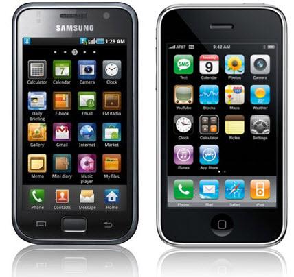 iphone4 vs galaxy s head