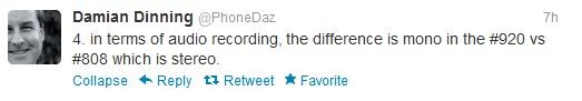920 tweet by Damian Dinning