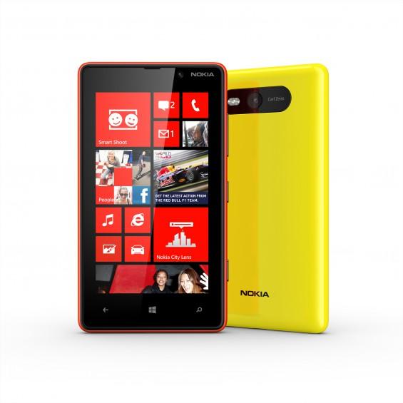 nokia lumia 820 red and yellow
