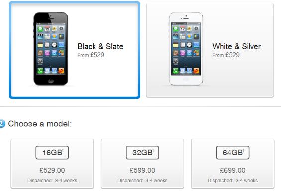iphone 5 availability