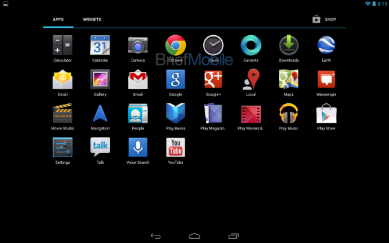nexus 10 app drawer