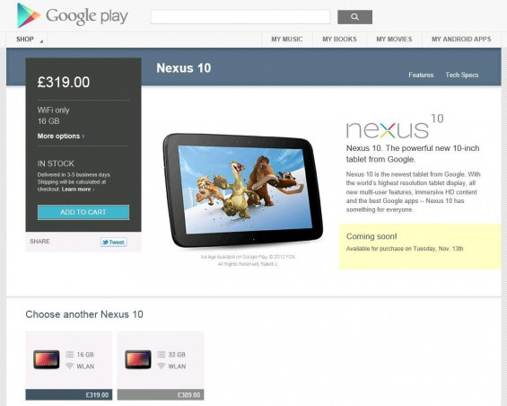 Nexus 10 to buy