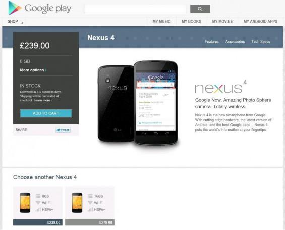 Nexus 4 to buy