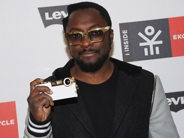 Will.i.am with the iPhone camera add on
