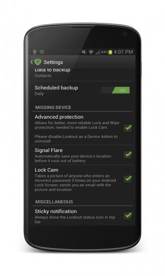lockcam settings