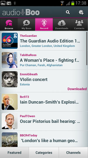 Audioboo for Android