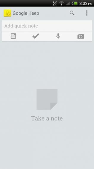 Blank Google Keep