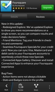 Foursquare update z10