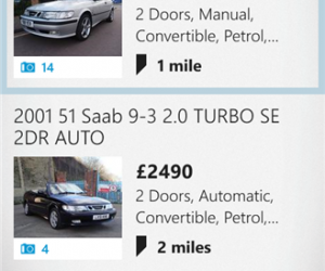 Auto Trader windows Phone App