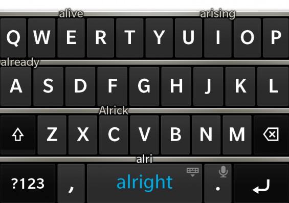 blackberry z10 keyboard closup