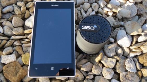 Veho 360 degree M3 Bluetooth Speaker with Nokia Lumia 520