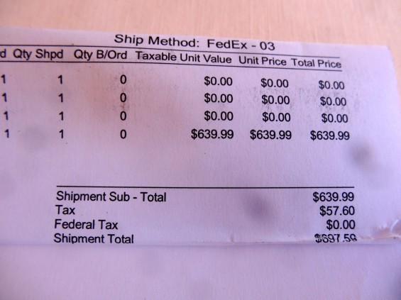 microwaved s4 receipt