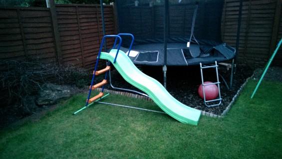 one trampoline