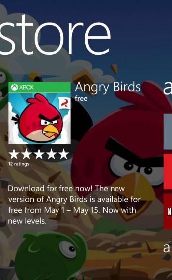 Angry Birds original WP store