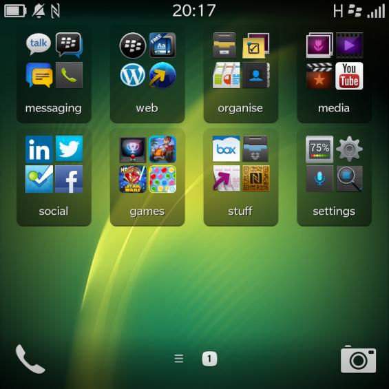 BlackBerry Q10 Home