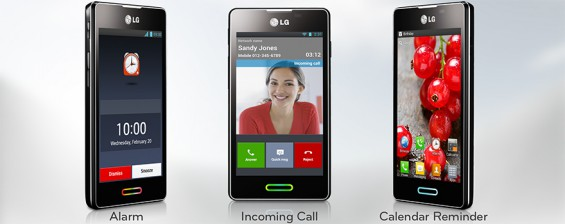 lg mobile L5 II feature Home Button LED
