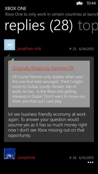 Tapatalk Screenshot