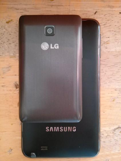 LG L3 II on a Samsung Glaxy Note