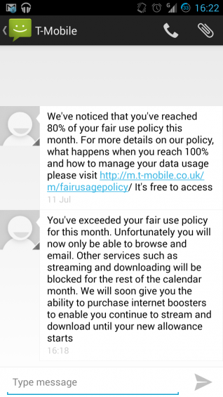 T Mobile policy change