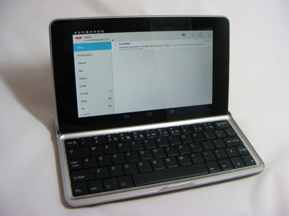with tablet docked