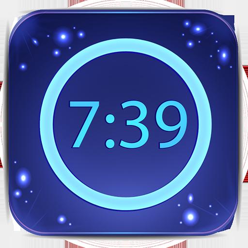 neon alarm icon
