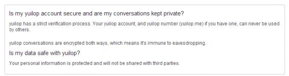 yuilop security