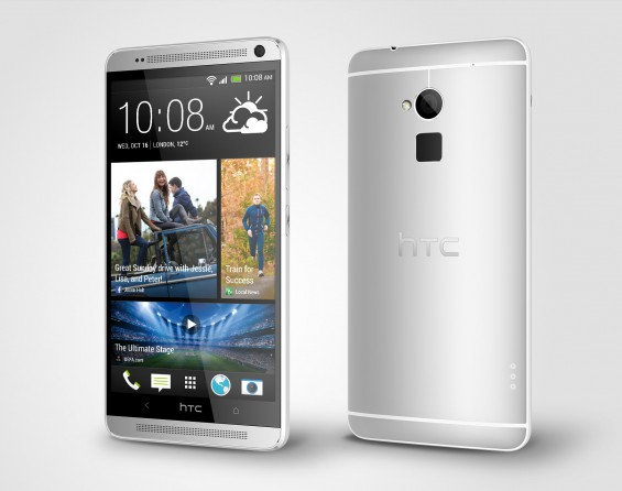 HTC One max Glacial Silver Perspective Right