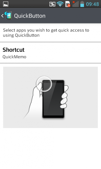 LG L7 Quick Button Settings