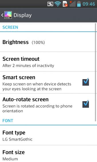 LG L7 Smart Screen