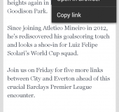 Material now on iPhone too   Personalised news, blogs and RSS stories