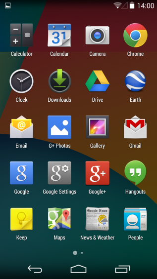 Full screen app tray
