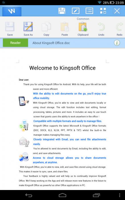 Lenovo Yoga 8  Kingsoft Office