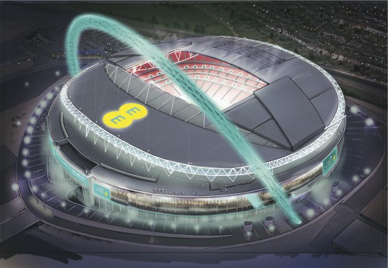 Wembley Connected By EE   Aerial
